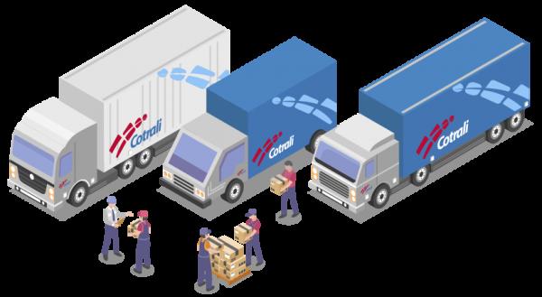 Cotrali - Camiones y personal